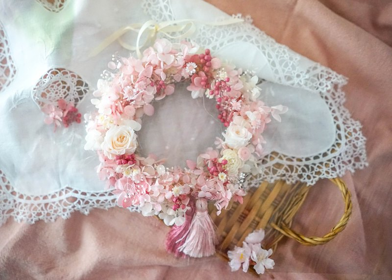 【Workshops】No flowering cherry blossom wreath, Lido floral