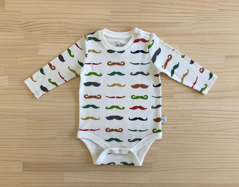 Gujui Mustache - Organic Cotton Long Sleeve Wrap Kit 6~12M