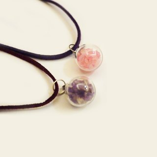 Natural Stone Crystal Glass Ball Single Necklace