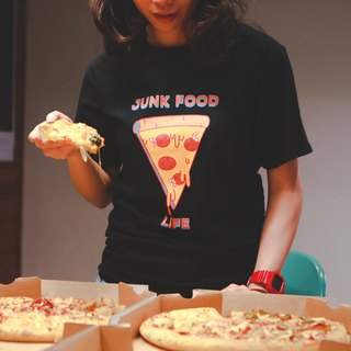 Deerhorn design / 鹿角 JUNK FOOD Pizza T-shirt