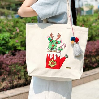 Belongs To J. Embroidery Totebag - Found my Christmas Cup!