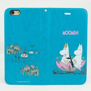 "Moomin Moomin genuine authority - Magnetic phone holster: [lotus pool of play (blue-green)] ""iPhone / Samsung / HTC / ASUS / Sony"""