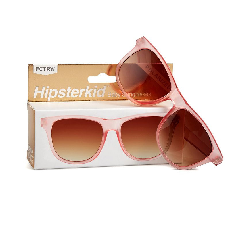 美國Hipsterkid 抗UV偏光嬰幼兒童太陽眼鏡(附固定繩) - 奢華玫瑰
