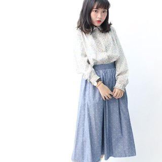 [RE0406SK140] US Air cowboy elastic waist vintage denim skirt