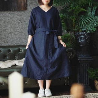 Lady Martha Dress : Navy