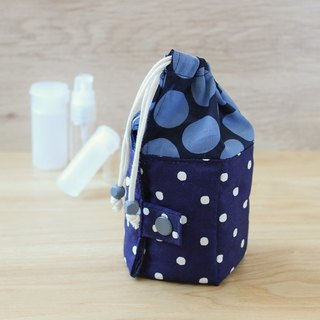 Travel Kit POUCH purple dot & blue dot