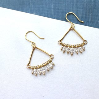 Fireworks- zircon brass earrings