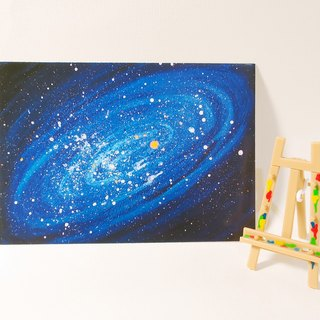 Quietly draw cool card / multifunctional storage postcard / universe