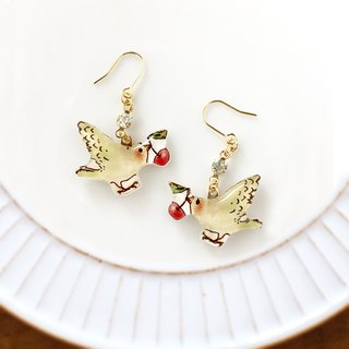 CHERRY BIRD EARRING