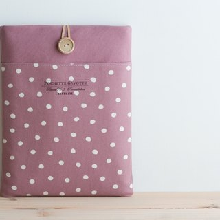 Laptop computer case Macbook cover PC case / pink dot