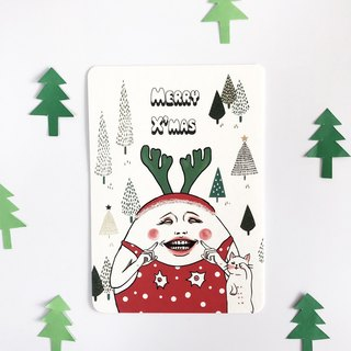 Smiling X'mas / Christmas card