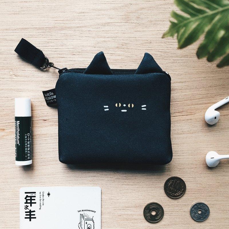 造型卡套零錢包 - 黑貓