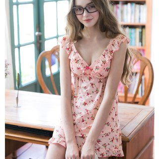 No rim pajamas [exclusive 2in1] Flower Country Rose Two-piece