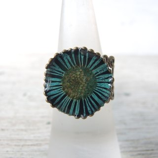 Real flower lace ring
