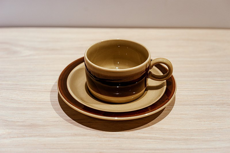 akunbkovintage-Melitta Ceracron Antique Coke Brown Cup Set