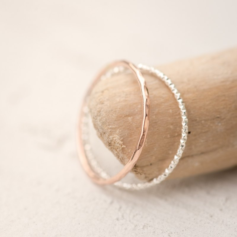 SRI LANKA dainty ring in 14k rose gold filled and 925 Sterling silver