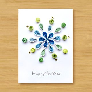 Handmade Roll Paper Card _ Fireworks _D ... New Year Greeting Card, Thank You Card, Universal Card