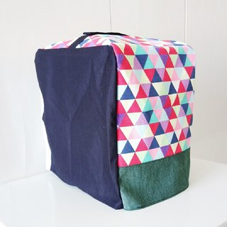 Bread Maker Cover (Colorful Triangles x Dark Blue)