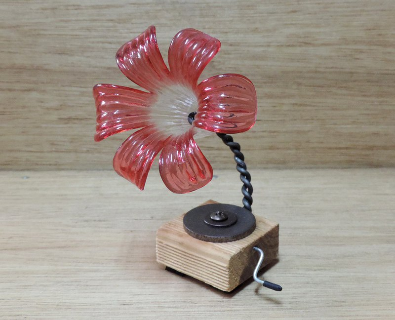 Vintage phonograph hand made decoration