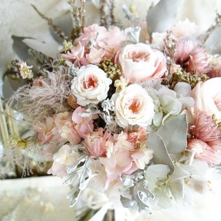 Wedding floral series ~ Classical smoke powder withered rose bouquet