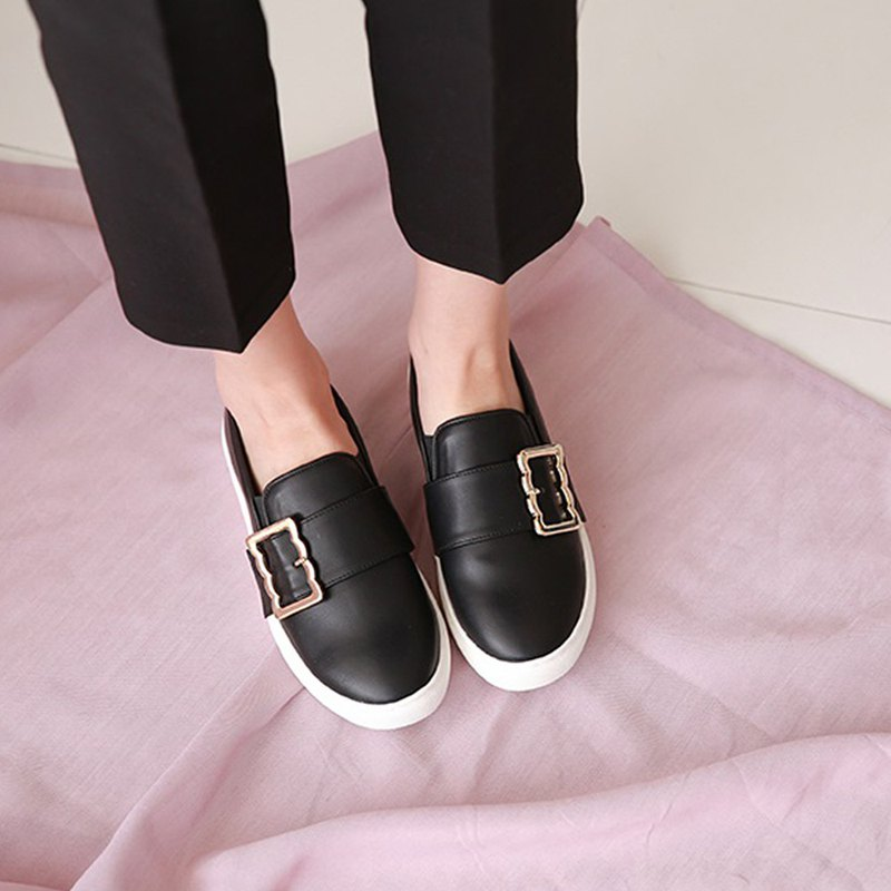 PRE-ORDER-韓國人手製 MACMOC Olym (BLACK) 休閒鞋