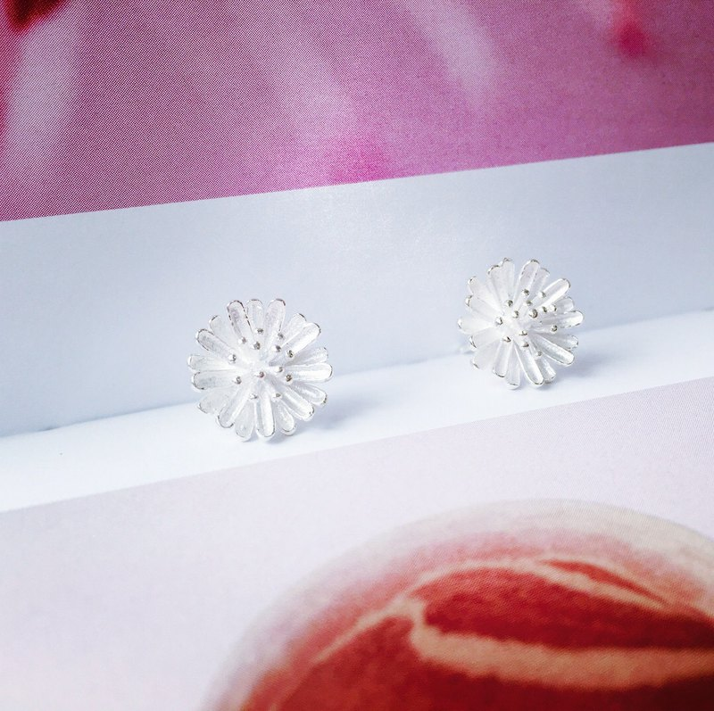 925 sterling silver pure naive [daisy ear needle]