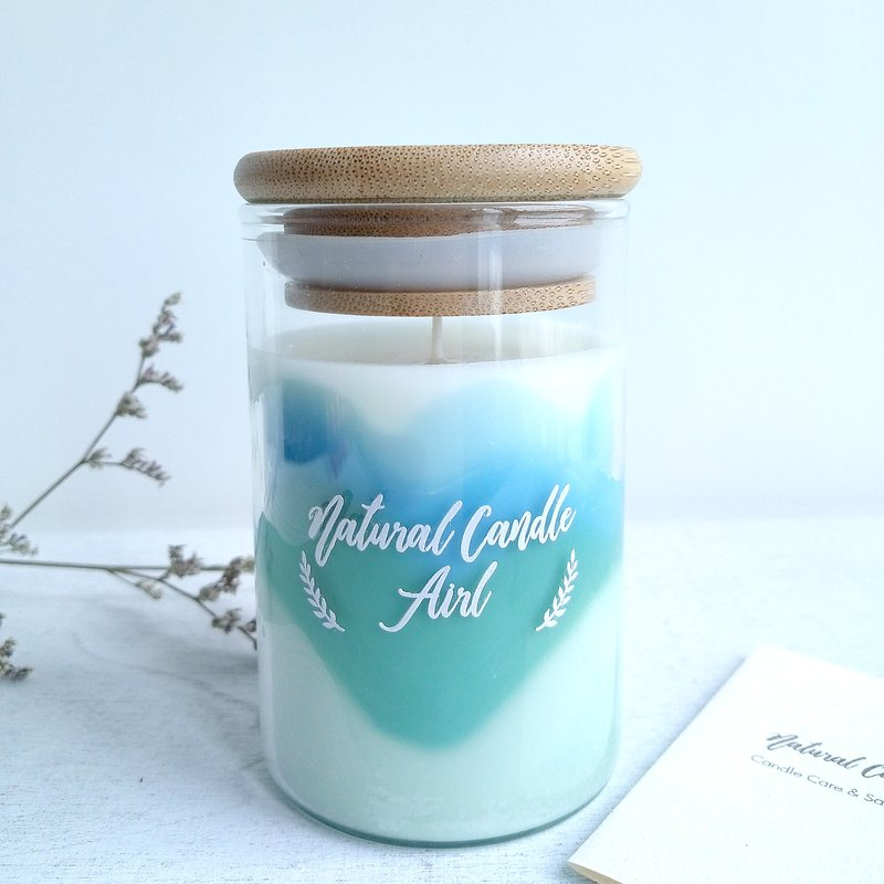 Fairy tale Mountain Pink & Blue | Natural Soywax Candle | Fig Orange | gift