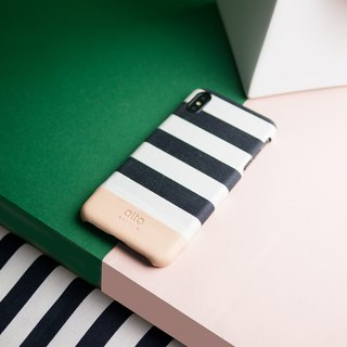 Alto iPhone Xs Max Denim Leather Case – Zebra