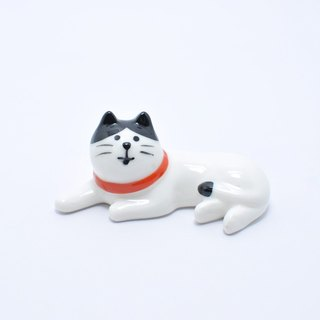 [Japan Decole] concombre healing chopsticks / paperweight / pen holder (eight black and white cats)