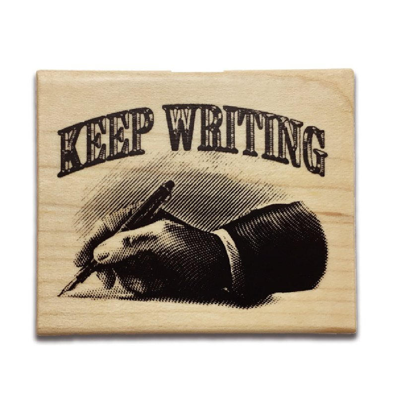 KEEP A NOTEBOOK Wooden Rubber Stamp CKN-031D_Keep Writing