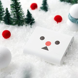Japan cheero three generations A stunned 13400mAh mobile power supply - white snowman - Snow treasure A stunned