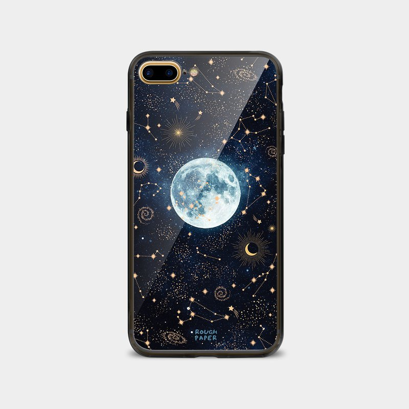 Starry Moon | Tempered Glass Case | Mobile Shell