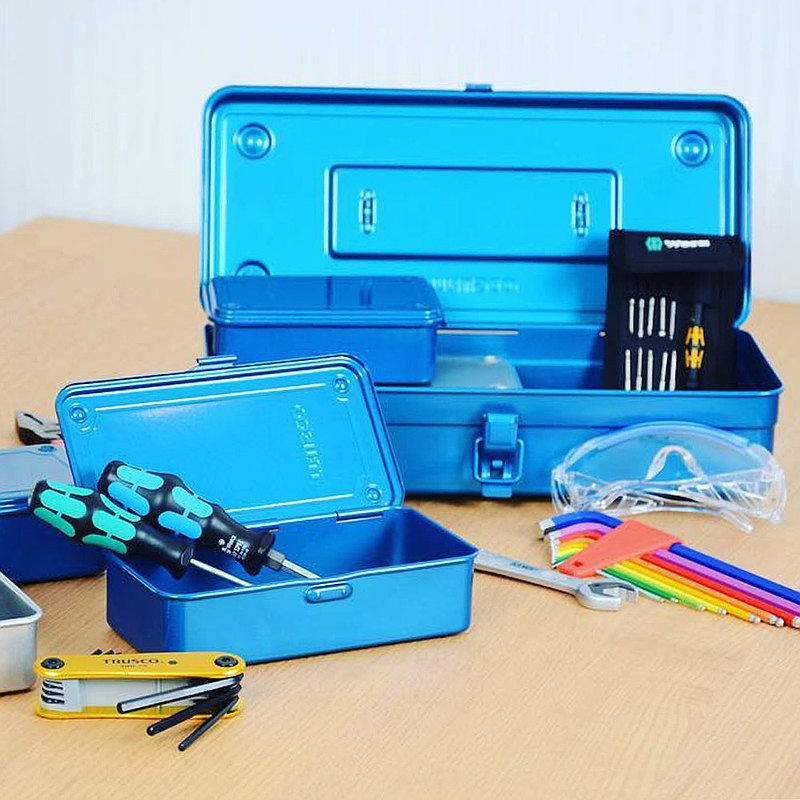 [Trusco] Classic Single-layer Toolbox (Large)-Iron Blue