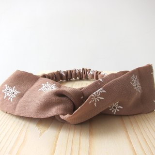 Hazelnut milk tea Elastic hair band