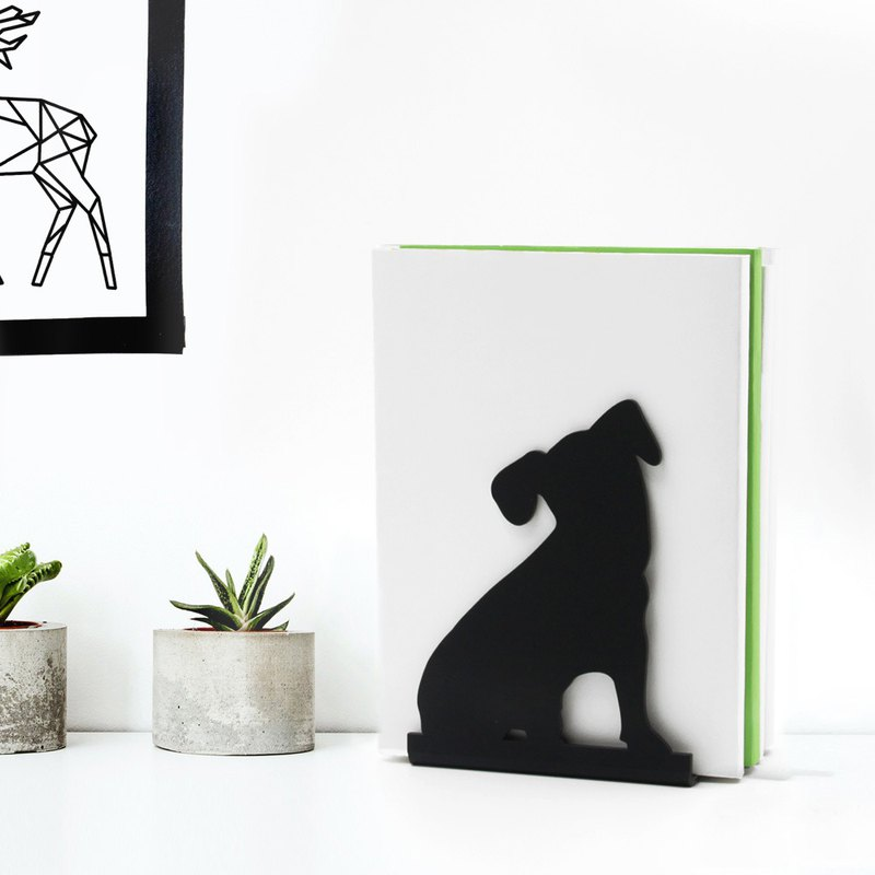 Dog Bookend Deco, Modern And Minimalistic Style.