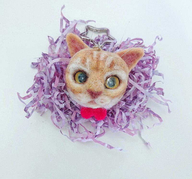 Wool felt pet customized-orange cat pin, need to be customized, provide photo valuation, do not place orders directly