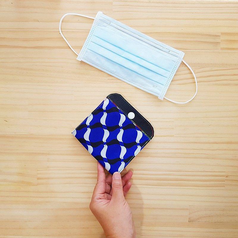 內外防水 隔層口罩收納套 幸福青鳥 寶石藍Waterproof Maskfolder