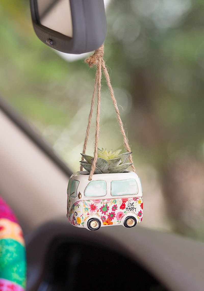 Hanging shape imitation succulent potted plant - Golden turtle car | PLNT047