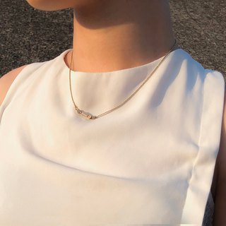 琉璃鎖鏈項鍊 (白) - Glass Chain necklace (white)