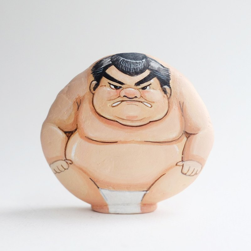 Sumo doll, Stone Art Paint by Acrylic Colour.