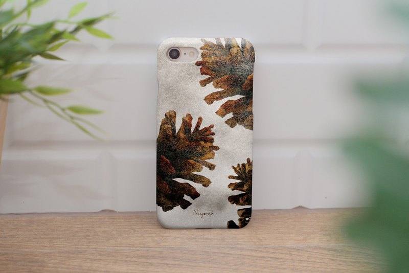 iphone case shimmer Pine cones for iphone5s,6s,6s plus, 7,7+, 8, 8+,iphone x