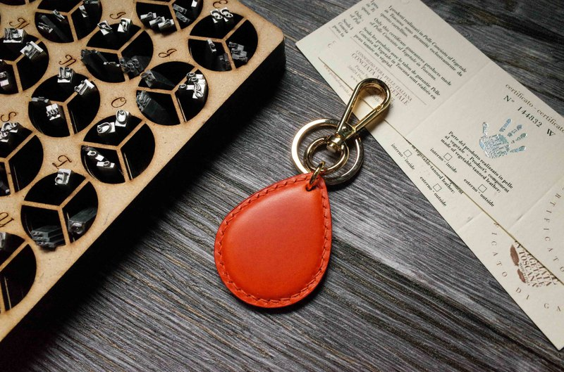 Buttero Easy Card Chip Charm - Water Drop Style - Orange