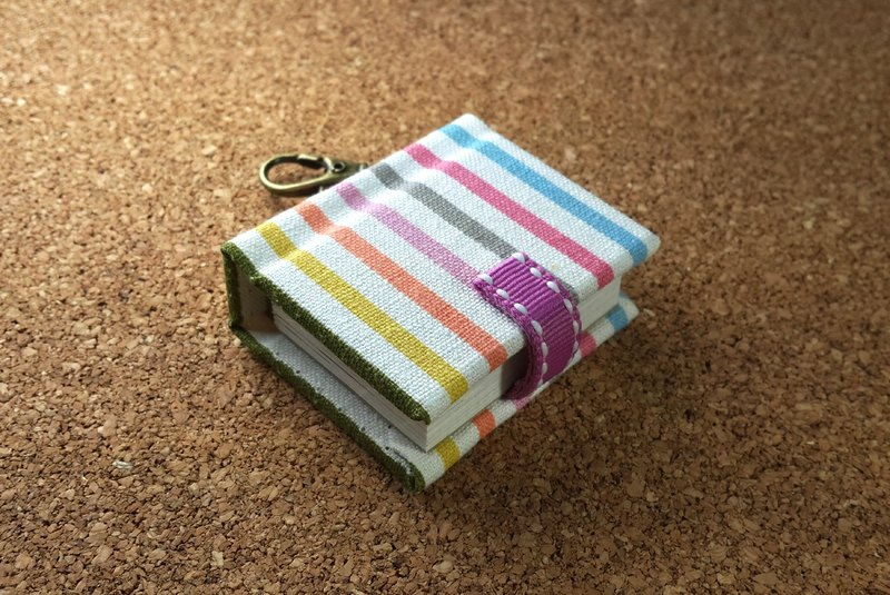 [Classic color stripe] mini small phase key ring 5cmX4.3cm - custom small things