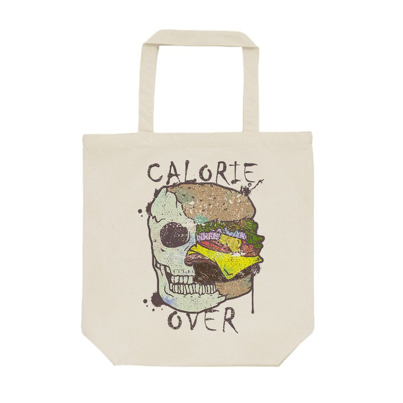 tote bag / Skull Hamburger