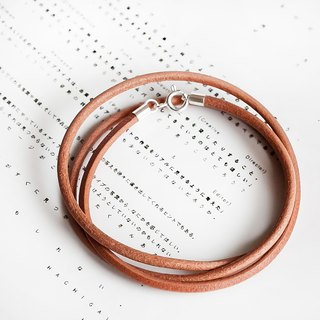 "3way neutral wind minimal multi-level: three laps wrapped leather rope bracelet / 2 ring anklet / single lap necklace ""small chain club"" male and female neutral section customization length BLR029"