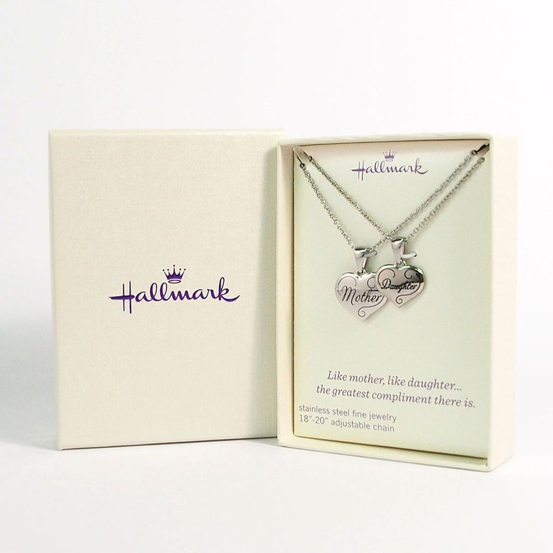 Model necklace mother daughter [Hallmark-gift item]