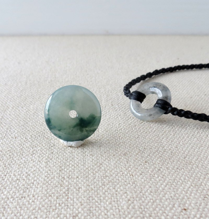 [Total two] todoy exclusive order [Peace ‧ Ruyi] ice floating flower emerald silk wax line necklace *