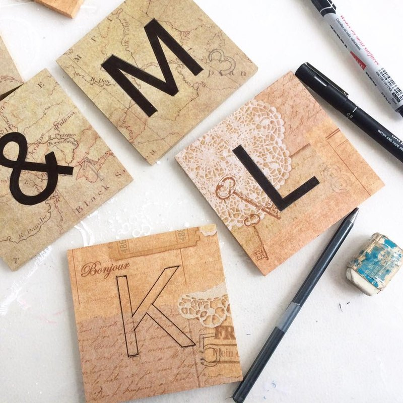 Tailor-made - Wedding wooden letter décor (Scrabbles)