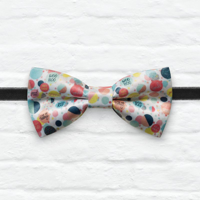 Style 0368 Joy Party Celebration Colorful Birthday Patterns- Gift&Wedding Bowtie