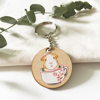 Illustration Charm keychain - cup guinea pigs